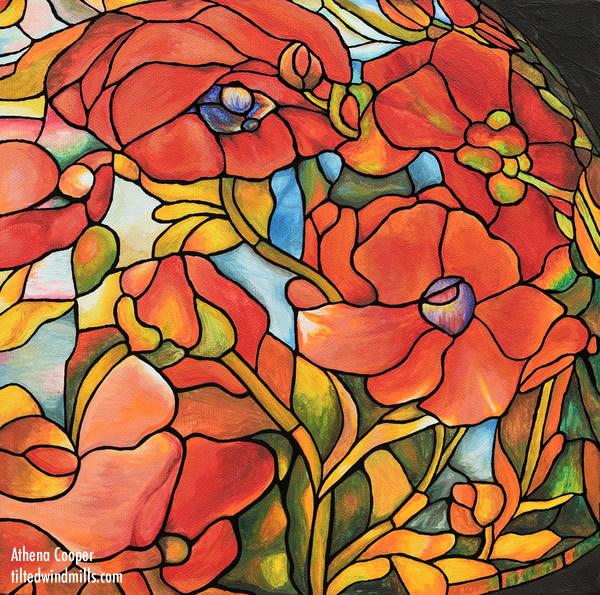 Red Poppy Lamp