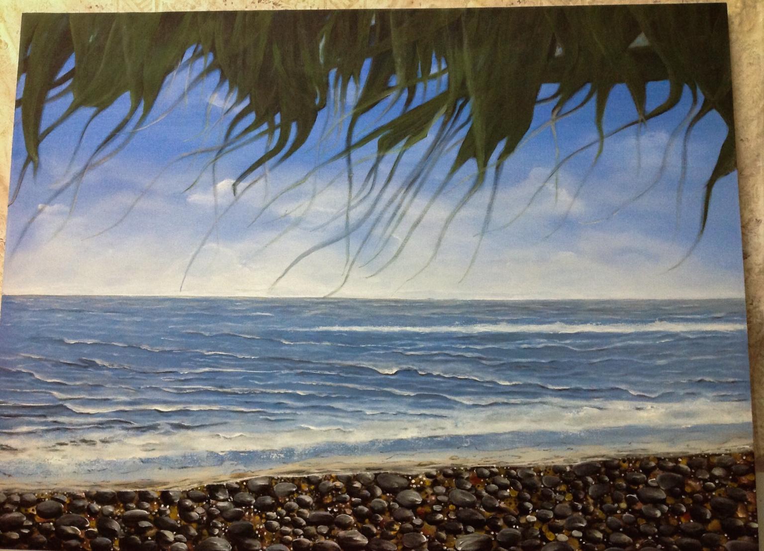Beach on canvas