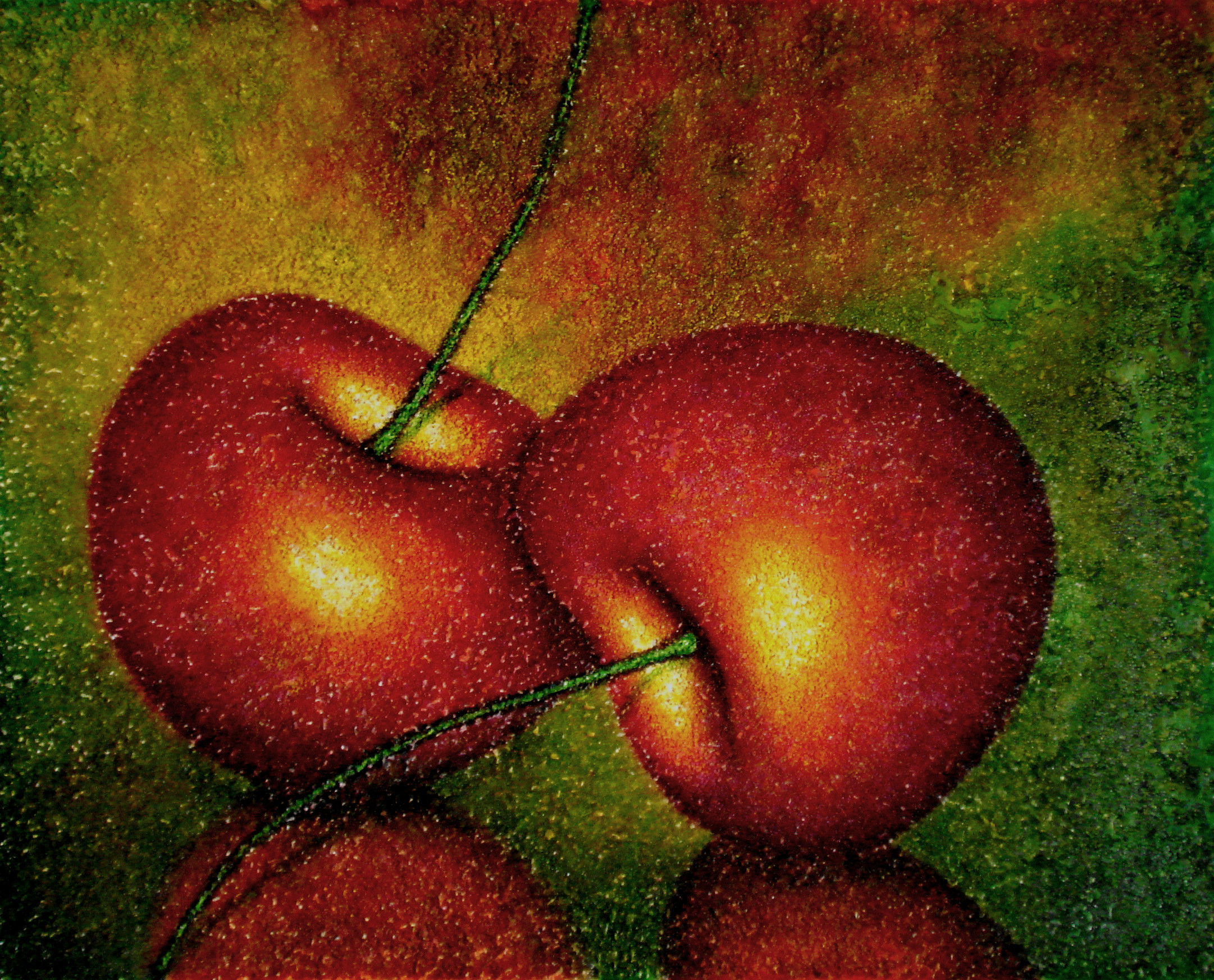 The ripe cherries