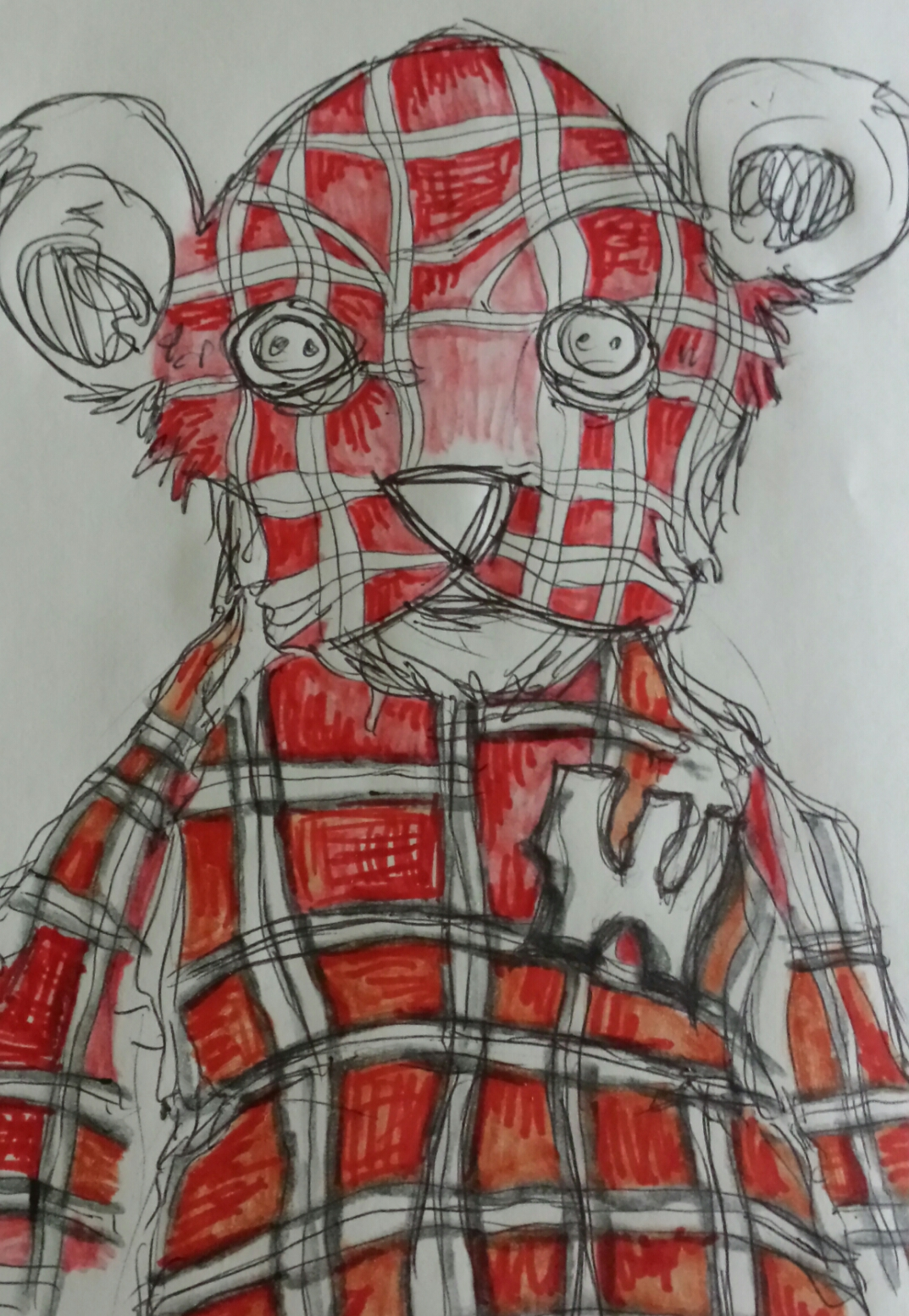 Plaid badger bear