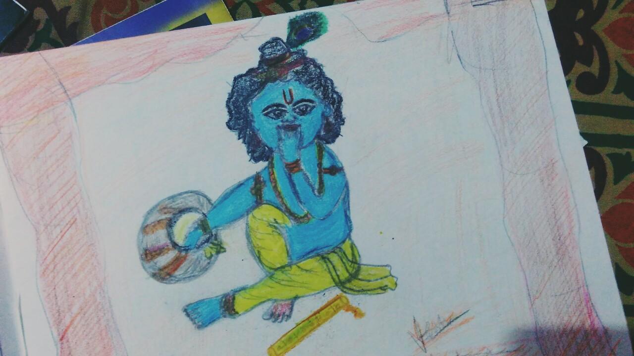 Sri Krishna drawing