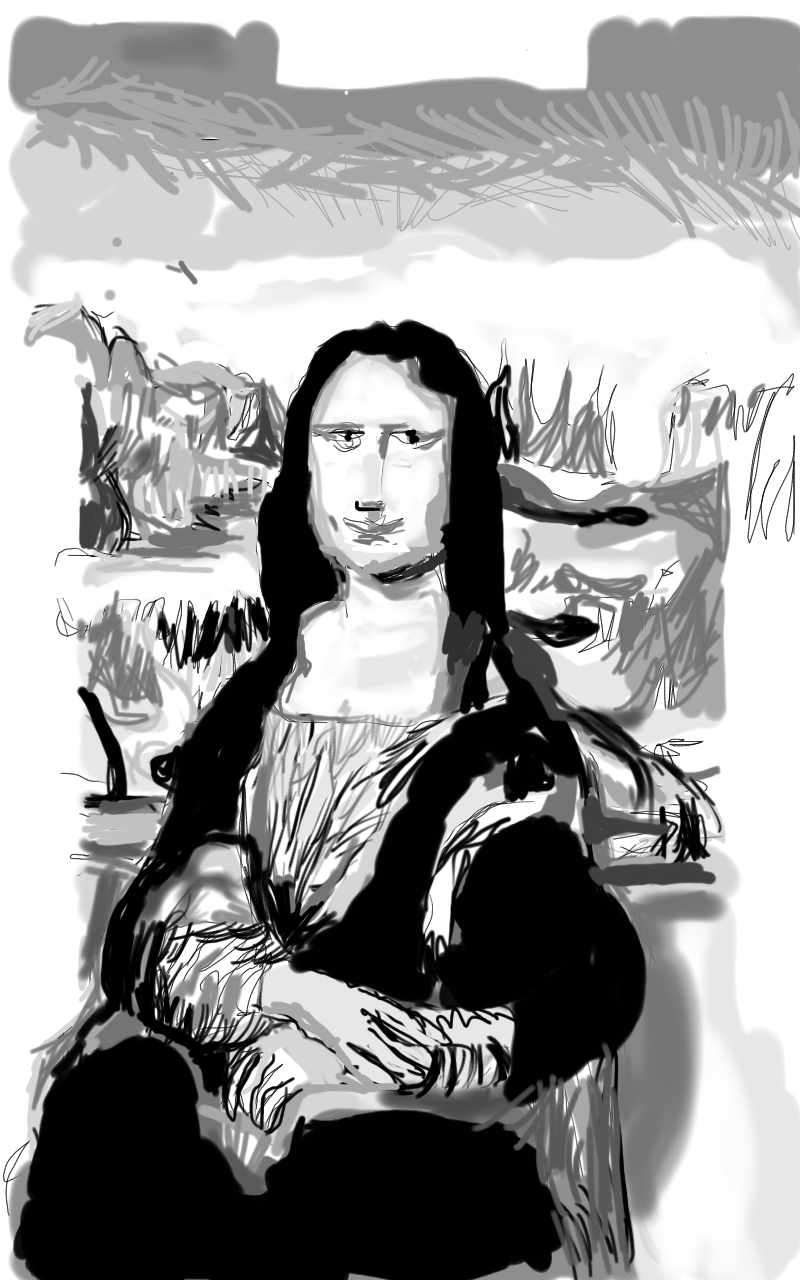 Digital art of the mona lisa