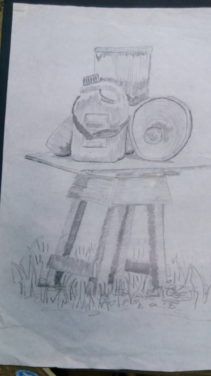 still life drawing.