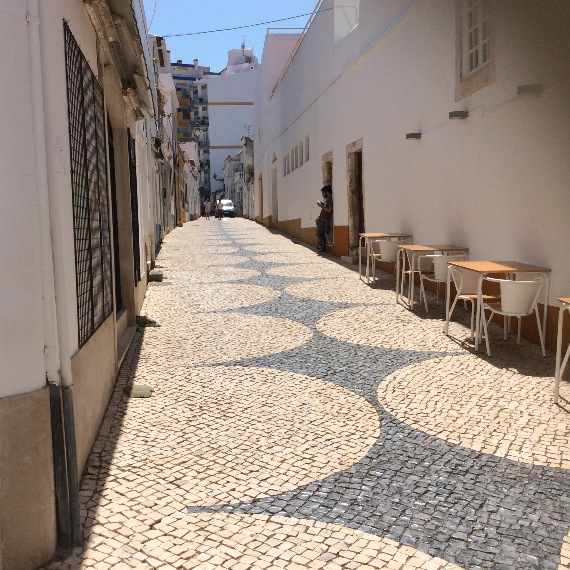 Walking the cobbled streets of Praira da rocha