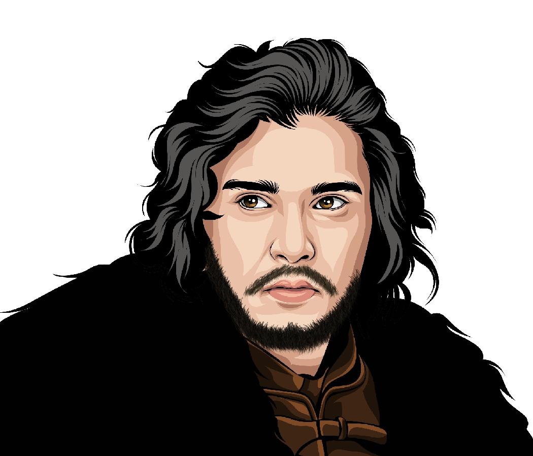 Illustration of Jon Snow