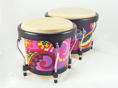 Painted bongo drums