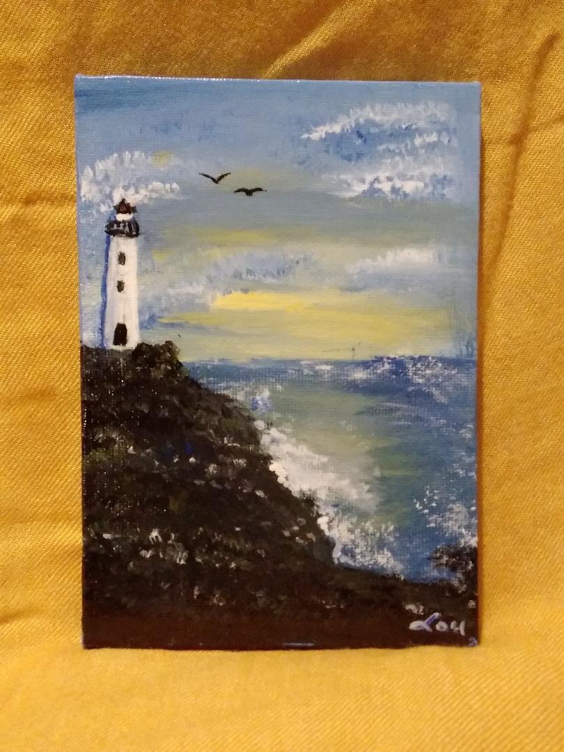 Lighthouse on Ocean Cliffside