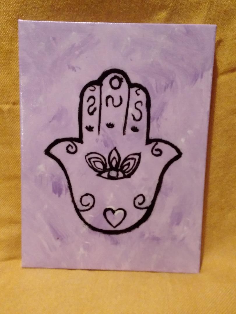 Purple Hamsa